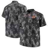 Men's Tommy Bahama Black Cincinnati Bengals Big & Tall Fuego Floral Button-Up Shirt