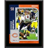 """Chicago Bears Roquan Smith Fanatics Authentic 10.5"""" x 13"""" Sublimated Player Plaque"""