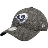 Women's New Era Heathered Black Los Angeles Rams Total Terry 9TWENTY Adjustable Hat