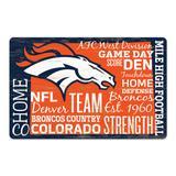 WinCraft Denver Broncos 11'' x 17'' Wordmark Wood Sign