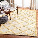 Martha Stewart Rugs Martha Stewart Puzzle Geometric Handmade Flatweave Wool Gold/Ivory Area Rug Wool in Brown/White, Size 96.0 H x 60.0 W x 0.3 D in