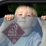 Texas A&M Aggies Lil' Fan On Board Car Sign