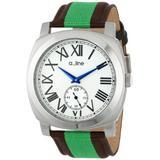 a_line Women's AL-80023-02-GN-NS2 Pyar Analog Display Japanese Quartz Two Tone Watch