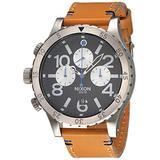 Nixon Men's Watch Quartz Chronograph XL Leather A 3631602–00