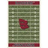 "Milliken College Home Field NCAA Wisconsin 01490 Home Field 7'8"" x 10'9"""