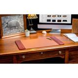 Dacasso Side-Rail Desk Pad Leather in Brown, Size 1.0 H x 22.0 W x 14.0 D in | Wayfair P3028