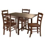 Winsome Lynden 5-pc. Drop Leaf Dining Table and Chair Set, Brown