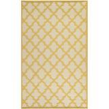 Martha Stewart Rugs Martha Stewart Puzzle Geometric Handmade Flatweave Wool Gold/Ivory Area Rug Wool in Brown/White, Size 72.0 H x 48.0 W x 0.3 D in