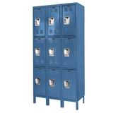 Hallowell Premium 3 Tier 3 Wide Locker Metal in Gray, Size 72.0 H x 12.0 W x 15.0 D in   Wayfair U3258-3HG