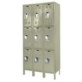 Hallowell Premium 3 Tier 3 Wide Locker Metal in Brown, Size 72.0 H x 12.0 W x 12.0 D in   Wayfair U3228-3PT