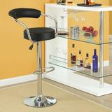 Modway Diner Adjustable Height Swivel Bar Stool Upholstered/Leather/Metal/Faux leather in Black, Size 21.0 W x 18.0 D in | Wayfair EEI-930-BLK
