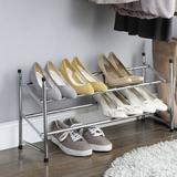 Organize It All Expandable 6 Pair Shoe Rack Metal in Gray, Size 14.0 H x 25.0 W x 9.0 D in   Wayfair 1731