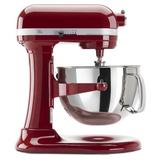 KitchenAid Professional 600 Series 10 Speed 6 Qt. Stand Mixer in Red, Size 17.0 H x 7.25 W x 14.6 D in | Wayfair KP26M1XER