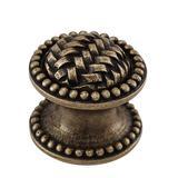 "Vicenza Designs Cestino 1 1/4"" Diameter Mushroom Knob Metal in Gray, Size 1.0 D in | Wayfair K1042-SN"