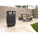 Safco Products Company Canmeleon Side 38 Gallon Trash Can Plastic in Black | Wayfair SAF9476BL