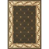 "KAS Oriental Rugs Corinthian Collection Fleur-De-Lis Area Rug, 7'7"" x 10'10"", Green"