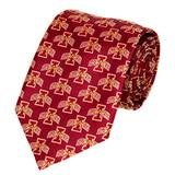 NCAA Men's Iowa State Cyclones State Repeating Necktie, Cardinal/Gold