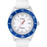 Timex Kids' White/Blue Rubber Watch