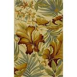 """KAS Oriental Rugs Sparta Collection Paradise Area Rug, 5'3"""" x 8'3"""", Ivory"""