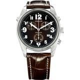Jowissa Men's J7.001.L Ginebra Brown Dial Chronograph Leather Watch