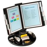 Aidata U.S.A Executive Rotary Base Reference Organizer in Black, Size 14.0 H x 9.0 W x 21.0 D in | Wayfair FDS021L