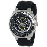 Nautica Men's N14675G NST 700 Stainless Steel Watch with Black Resin Band