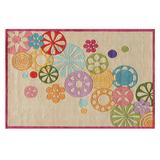Momeni Lil Mo Hipster Floral Rug, White, 4X6 Ft