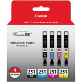 Canon CLI-251 4-Cartridge Ink Set 6513B004