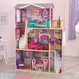 KidKraft Elegant Doll Manor Manufactured Wood in Brown, Size 47.0 H x 16.5 W x 36.75 D in | Wayfair 65830