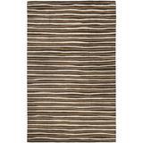Martha Stewart Rugs Martha Stewart Striped Handmade Tufted Tilled Soil Area Rug Viscose/Wool in Brown, Size 72.0 H x 48.0 W x 0.63 D in | Wayfair
