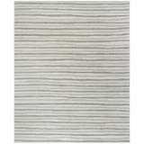 Martha Stewart Rugs Martha Stewart Striped Handmade Tufted Wool Gray Area Rug Viscose/Wool in Brown/Gray, Size 120.0 H x 96.0 W x 0.625 D in Wayfair