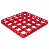 Carlisle RE25C05 Full Size Glass Rack Extender w/ (25) Compartments, Red