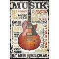 Home affaire Bild Musik ist Leidenschaft, 60/90 cm braun Kunstdrucke Bilder Bilderrahmen Wohnaccessoires
