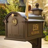 Balmoral Mailbox - Black, Door Initial - Frontgate