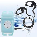 Walsoon WS531 Waterproof Underwater 4GB MP3 Music Player+FM Radio for Swimming (Blue)