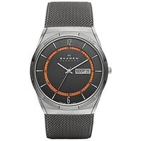 Skagen Men's Aktiv Silver Stainless Steel Grey Dial Quartz Watch (Stainless Steel)