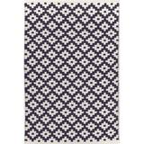 Dash and Albert Rugs Samode Geometric Hand Knotted Navy/Ivory Area Rug Polypropylene in Blue/Brown/Navy, Size 108.0 H x 72.0 W in   Wayfair