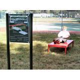 "Kidstuff Playsystems, Inc. Abdominal Crunch Bench & Sign, Metal in Red, Size 62""H X 72""W X 34""D   Wayfair HTK04"
