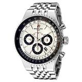 Breitling Men's Navitimer Automatic Mechanical Chronograph Silver Dial Stainless Steel