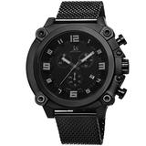 J&S JOSHUA & SONS Men's Chronograph Watch - 3 Multifunction Subdials, Timer, Seconds and Day Plus a Date Window on Stainless Steel Bracelet - JS58