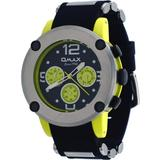 Omax #PA09L22Y Men's Yellow Tone Bullet Resin Band Multi-Function Watch