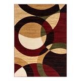 Well Woven Dulcet Bingo Contemporary Geometric Area Rug, Red, 3X4