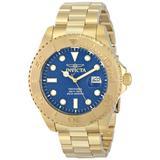 Invicta Men's 15193 Pro Diver Analog Display Swiss Quartz Gold-Plated Watch, Blue
