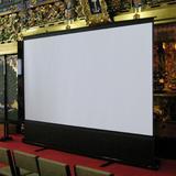"Elite Screens ezCinema White Portable Floor Rising Projector Screen Viewing Area: 135"" diagonal, Size 19.7"" L x 74.4"" W x 85.3"" H | Wayfair F135NWV"