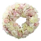 "Winward Silks 24"" Polyester Wreath in Brown, Size 24.0 H x 24.0 W x 6.0 D in   Wayfair P92023.CH"