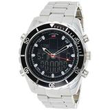 U.S. Polo Assn. Men's US8211 Analog/Digital Display Sterling Silver Watch