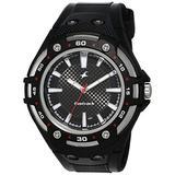 Fastrack Men's 9332PP02 Casual Black Polyurethane Strap Watch