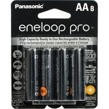 Panasonic eneloop pro AA Rechargeable NiMH Batteries 1.2V, 2550mAh, 8-Pack BK-3HCCA8BA