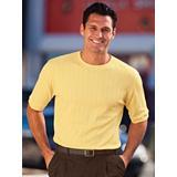 Men's John Blair Signature Short-Sleeve Crewneck, Yellow S