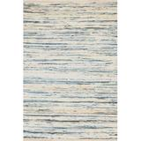 Dash and Albert Rugs Denim Rag Striped Hand-Woven Flatweave Cotton/Blue Area Rug Cotton in White, Size 36.0 W x 0.25 D in   Wayfair RDA340-35